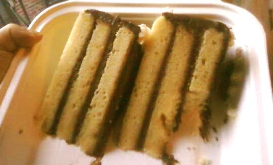 Yellow Layer Cake with Taza Chocolate Frosting