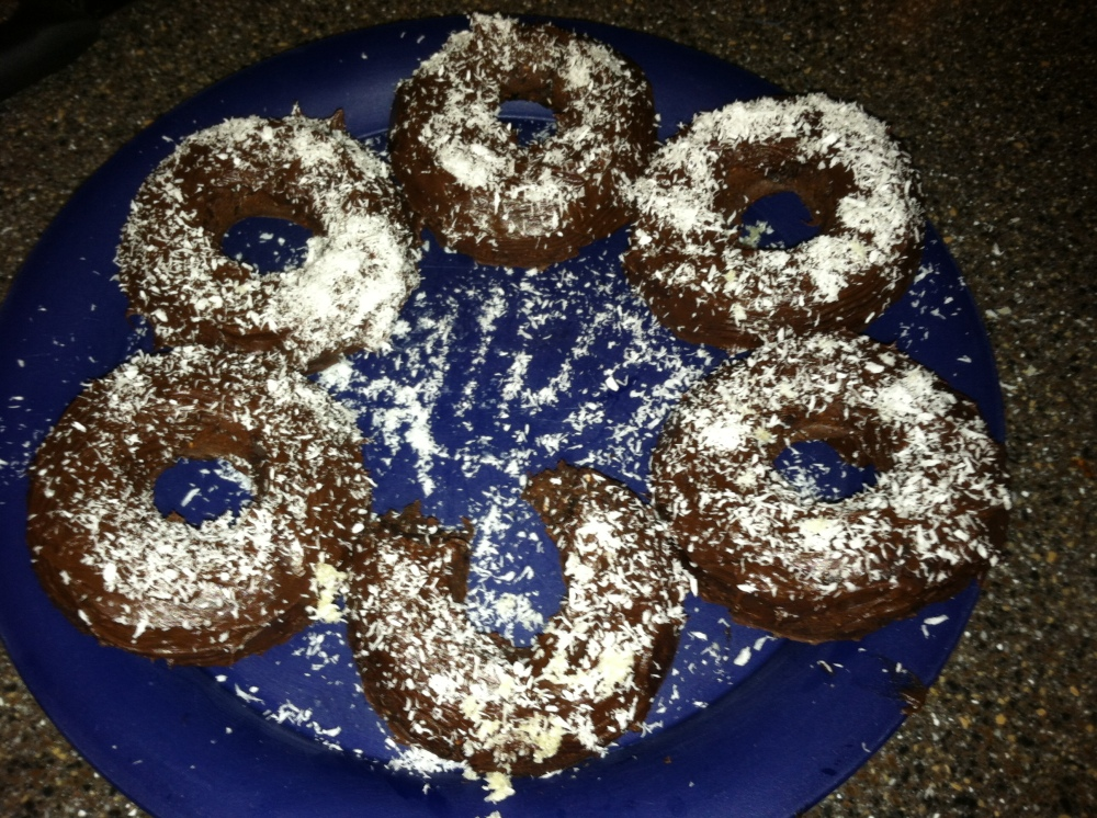 Coconut Chocolate Donuts