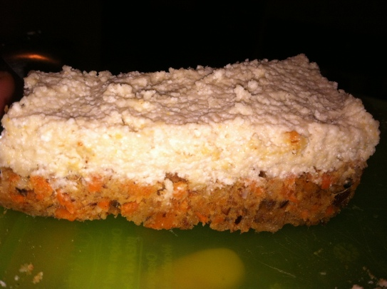 Raw Carrot Cake with Cashew Frosting